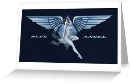 Blue Angel Pinup by Lily McDonnell