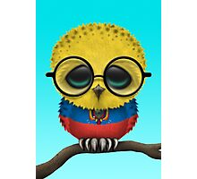 Nerdy Ecuadorian Baby Owl on a Branch Photographic Print