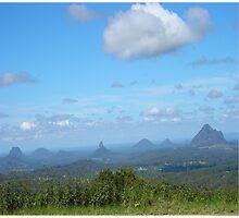 Glasshouse Mountains Photographic Print