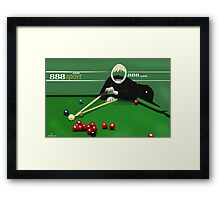 Corky's playing snooker Framed Print