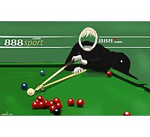 Corky's playing snooker Photographic Print