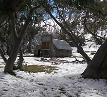 Wallace Hut, Falls Creek Victoria by Lisa Evans