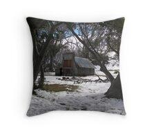 Wallace Hut, Falls Creek Victoria Throw Pillow