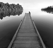 Jetty in Mono by Hans Kawitzki