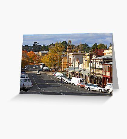 Ford Street - Beechworth Greeting Card