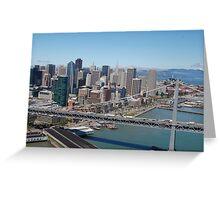 Bay Bridge Downtown SF Greeting Card