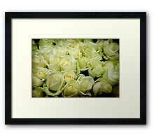 Cream & Green Framed Print