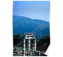Tholos in the Shrine of Athena, Delphi, Greece Poster