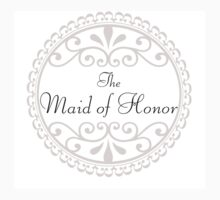 Maid of Honor Wedding Party Big Day Love Marriage Something Blue Kids Clothes