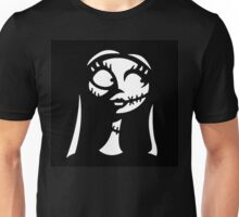 Sally in Black&White - Nightmare Before Christmas, Skellington, Pumpkin King, White, Grin, Evil, Halloween, Christmas, Finkelstein Unisex T-Shirt