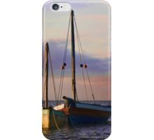 Two dhows on the ocean iPhone Case/Skin
