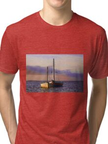 Two dhows on the ocean Tri-blend T-Shirt