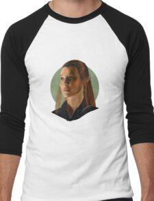 She Walks in Starlight Men's Baseball ¾ T-Shirt