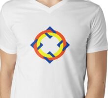 Op-art n.4 Mens V-Neck T-Shirt