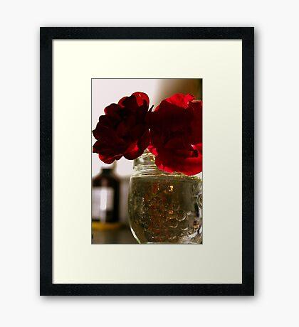 ROSY Silhouette Framed Print