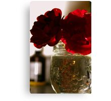 ROSY Silhouette Canvas Print