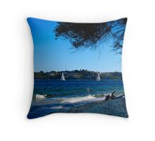 Sail and Paddles Throw Pillow