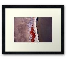 Natures' art in abstract. Framed Print