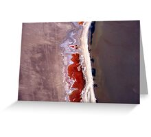Natures' art in abstract. Greeting Card
