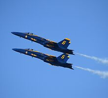 Blue Angels In Double Formation by PicsByChris