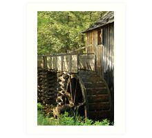 Mill Wheel Art Print