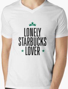 Lonely Starbucks Lover Mens V-Neck T-Shirt