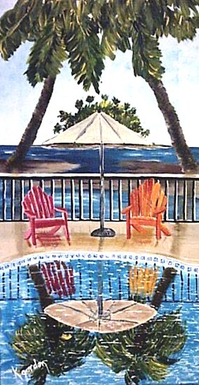 Sit With Me By The Pool II by WhiteDove Studio kj gordon