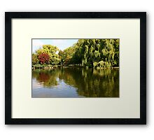 Boston Reflections Framed Print