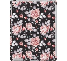 Stylish Vintage Pink Floral Pattern iPad Case/Skin