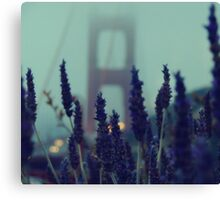 """Purple Haze Daze"" Golden Gate Bridge Canvas Print"