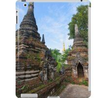 Crumbling Stupa at Local temple, Hsipaw, Shan State, Myanmar iPad Case/Skin