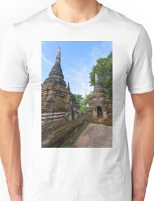 Crumbling Stupa at Local temple, Hsipaw, Shan State, Myanmar Unisex T-Shirt