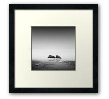 black coast Framed Print