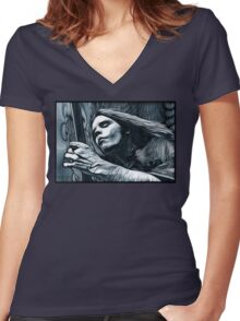 """Bob Weir """"Destination Unknown"""" Grateful Dead psychedelic image Women's Fitted V-Neck T-Shirt"""