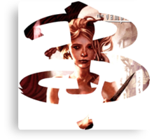 B - Buffy comic - Buffy Canvas Print
