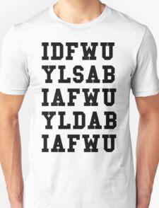 IDFWU Hook Black Unisex T-Shirt
