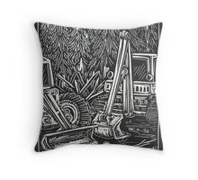 Strange Scenes Series, Pause Throw Pillow
