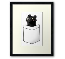 Toothless in your Pocket t shirt Framed Print