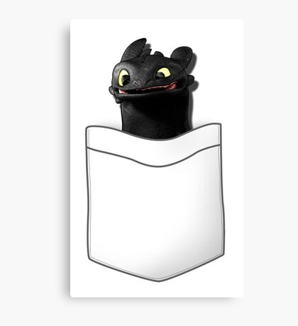 Toothless in your Pocket t shirt Canvas Print