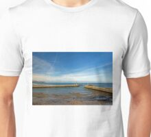 Whitby Piers from Tate Hill Unisex T-Shirt