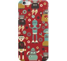 Retro Robots on Red iPhone Case/Skin