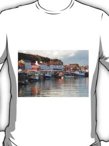 Boats in the Lower Harbour, Whitby T-Shirt