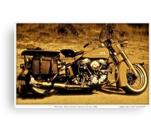 Harley - Davidson (Hydral Glider.1956).Brown Sugar Story. Views: 2984 thank you easy riders !  Featured . Nostagic Art and Photography. Hold Your Memories. Buy what you like! Canvas Print
