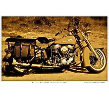 Harley - Davidson (Hydral Glider.1956).Brown Sugar Story. Views: 2984 thank you easy riders !  Featured . Nostagic Art and Photography. Hold Your Memories. Buy what you like! Photographic Print