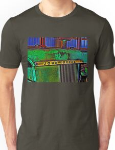 Old Rusty Green John Deere Tractor High Color Contrast Photograph Unisex T-Shirt