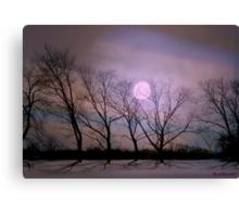 Bare souls under moonlight Canvas Print