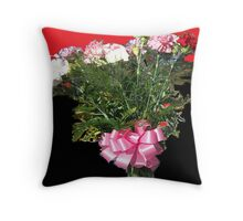 carnations by the dozen Throw Pillow