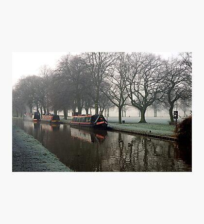 Visitor Moorings Beside Shobnal Fields Photographic Print