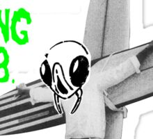 Insects Surfing Club t-shirt - green horror font Sticker