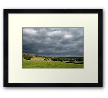 Storm Clouds, East of Monsal Head Framed Print